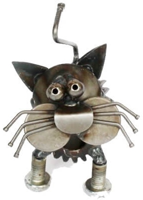 Junkyard Dogs & Cats ENK020 Double Gear Cat