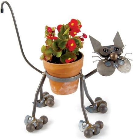 Junkyard Dogs & Cats F27 Cat Glass Eyed Pot Holders