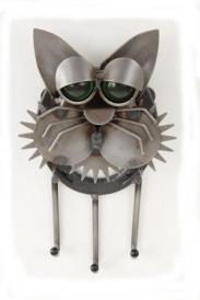 Junkyard Dogs & Cats F364 Sleepy Cat Key Holder