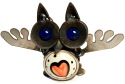 Yardbirds B134N Owl with Heart in Belly