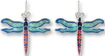 Zarah Co Jewelry 0102Z1 Calypso Dragonfly Earrings