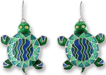 Zarah Co Jewelry 0105Z1 Calypso Turtle Earrings
