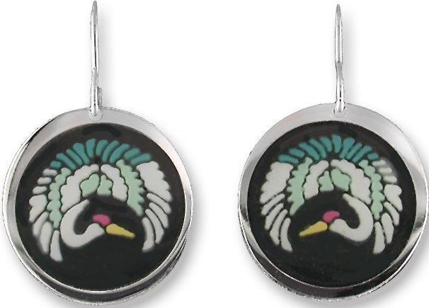 Zarah Co Jewelry 0701V1 Midnight Crane Earrings