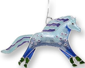 Zarah Co Jewelry 1101Z1P Wild Mustang Pendant on Chain