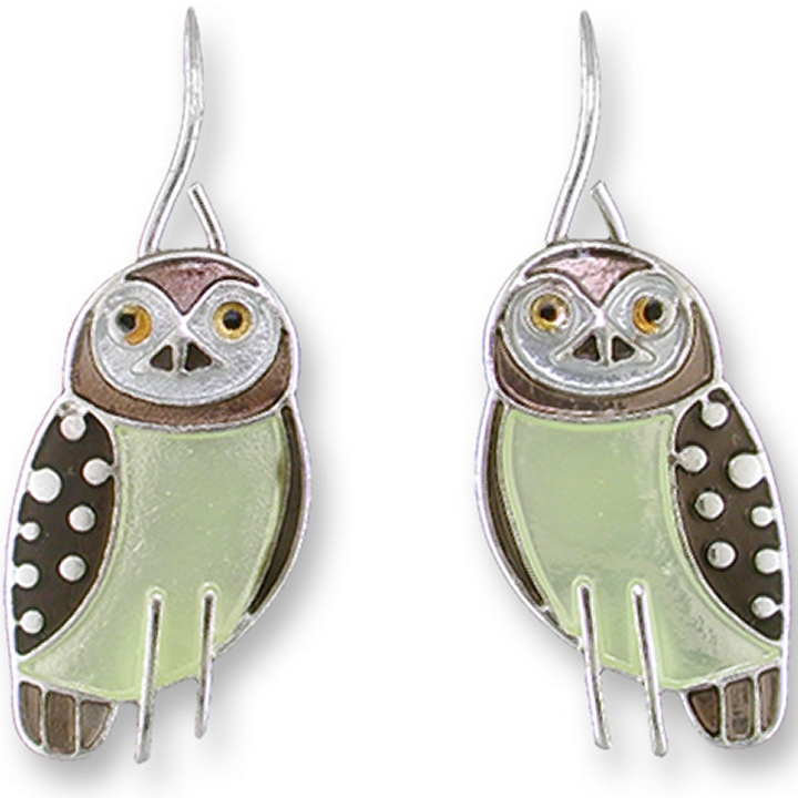 Zarah Co Jewelry 1304Z1P Owl Pendant on Chain