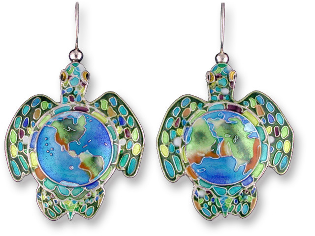 Zarah Co Jewelry 160201 Earth Turtles Earrings