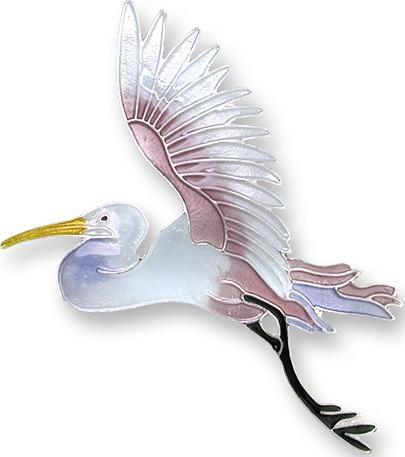Zarah Co Jewelry 1904Z2 Flying Egret Pin