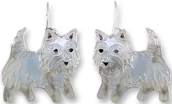 Zarah 1908Z1 Westie West Highland Terrier Earrings
