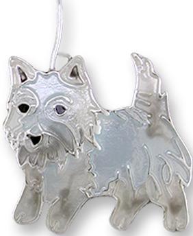 Zarah Co Jewelry 1908Z1P Westie West Highland Terrier Pendant on chain