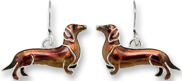 Zarah Co Jewelry 1909Z1 Dachshund Earrings
