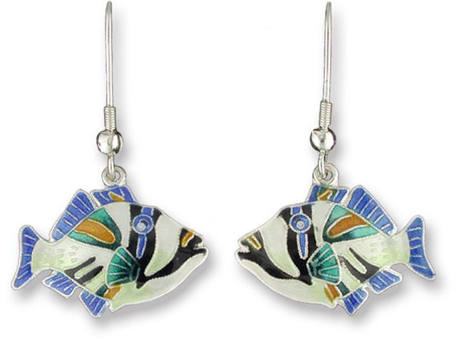 Zarah Co Jewelry 191701 Triggerfish Earrings