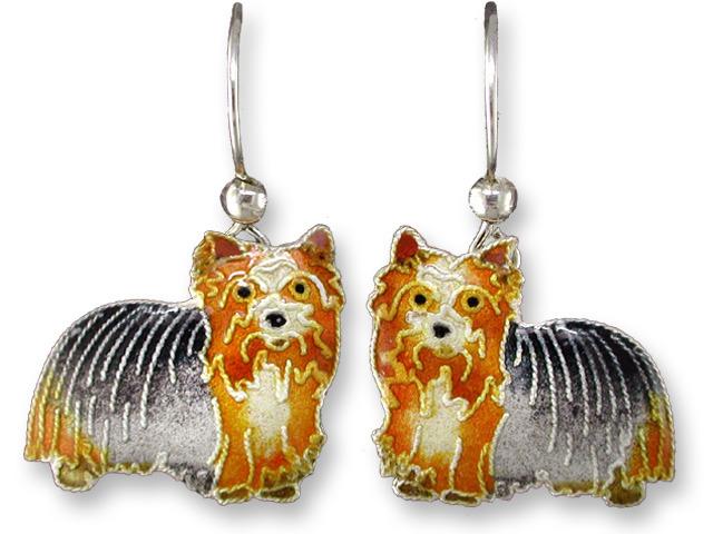 Zarah Co Jewelry 198201 Yorkshire Terrier Yorkie Earrings