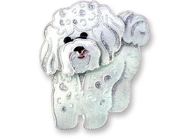 Zarah Co Jewelry 199002 Bichon Frise Pin Brooch