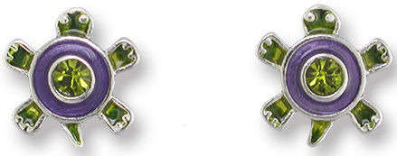 Zarah Co Jewelry 2009Z1 Crystal Turtle Earrings