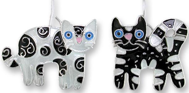 Zarah Co Jewelry 2011Z1 Feline Friends Earrings