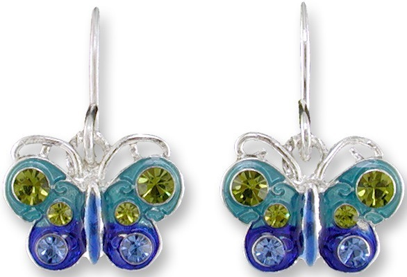 Zarah 2014Z1 Crystal Butterfly Earrings
