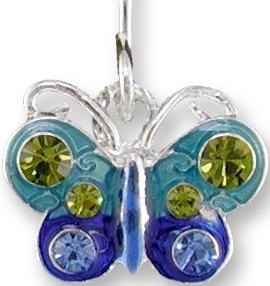 Zarah 2014Z1P Crystal Butterfly Pendant on Chain