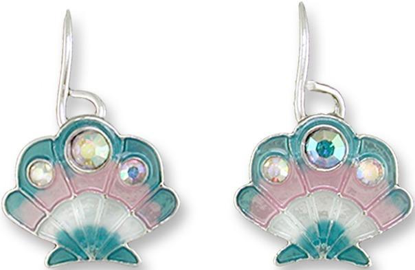 Zarah Co Jewelry 2018Z1 Crystal Scallop Earrings