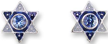 Zarah Co Jewelry 2021Z1 Crystal Star of David Earrings