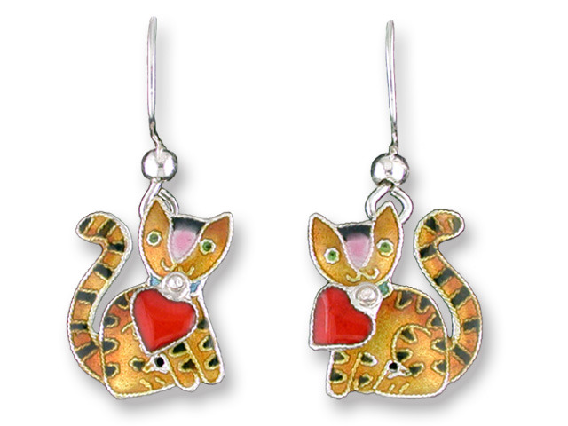 Zarah Co Jewelry 207191 Valentine Kitty Earrings