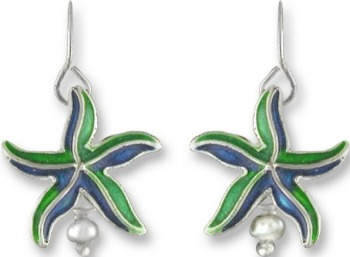 Zarah Co Jewelry 2107Z1 Little Starfish Earrings