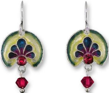 Zarah Co Jewelry 2113Z1 Ruby Anthemion Earrings