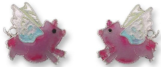 Zarah Co Jewelry 2124Z1 Flying Pig Post Earrings