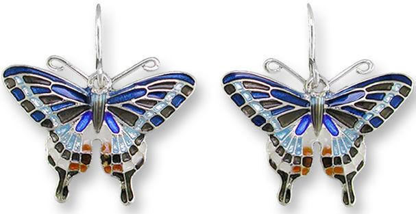 Zarah Co Jewelry 2126Z1 Dark Tiger Swallowtail Earrings