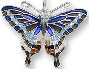 Zarah 2126Z1P Dark Tiger Swallowtail Pendant on Chain