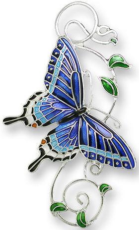 Zarah Co Jewelry 2126Z2 Dark Tiger Swallowtail Pin
