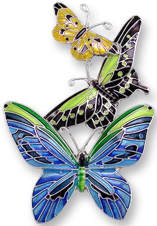 Zarah 2128Z2 Tropical Butterflies Pin