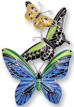 Zarah 2128Z2P Tropical Butterflies Pendant on Chain