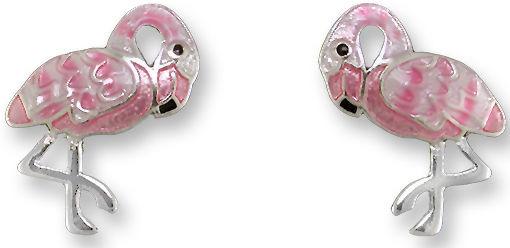 Zarah Co Jewelry 2130Z1 Flamingo Post Earrings