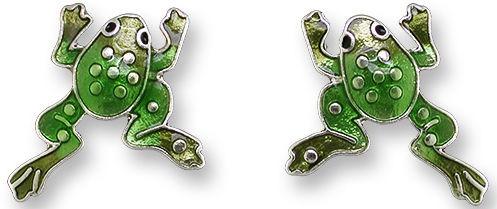 Zarah Co Jewelry 2132Z1 Frog Post Earrings