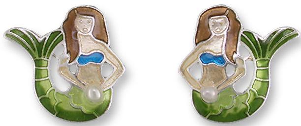 Zarah Co Jewelry 2133Z1 Mermaid Post Earrings