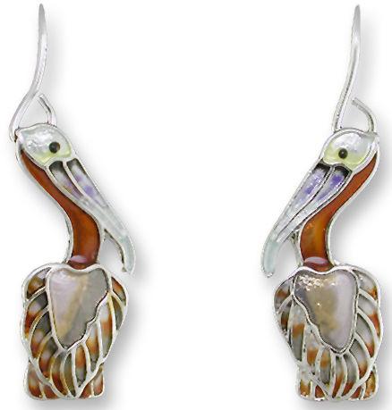 Zarah Co Jewelry 2147Z1 Little Pelican Earrings