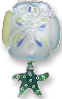 Zarah Co Jewelry 2150Z1P Sand Dollar and Starfish Pendant on Chain