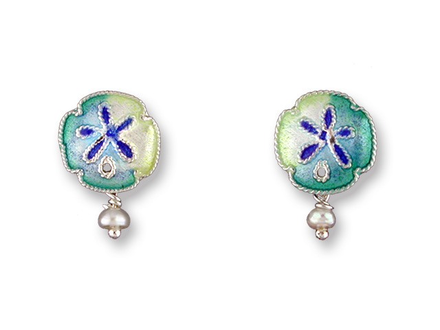 Zarah Co Jewelry 215401 Sand Dollar Earrings