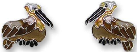 Zarah Co Jewelry 2155Z1 Pelican Post Earrings