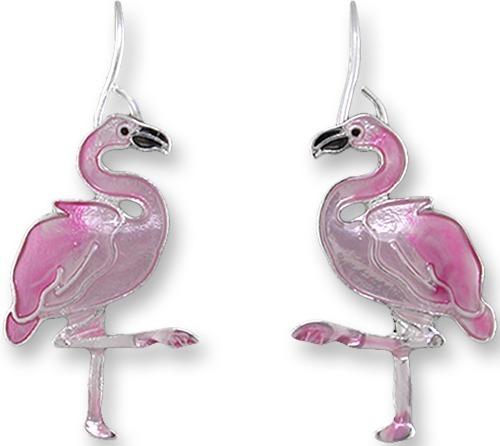 Zarah Co Jewelry 2159Z1 Caribbean Flamingo Earrings
