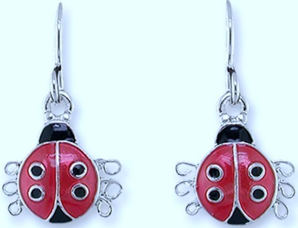 Zarah Co Jewelry 2165Z1 Ladybird Earrings