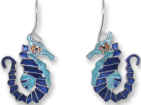 Zarah Co Jewelry 2169Z1 Little Seahorse Earrings