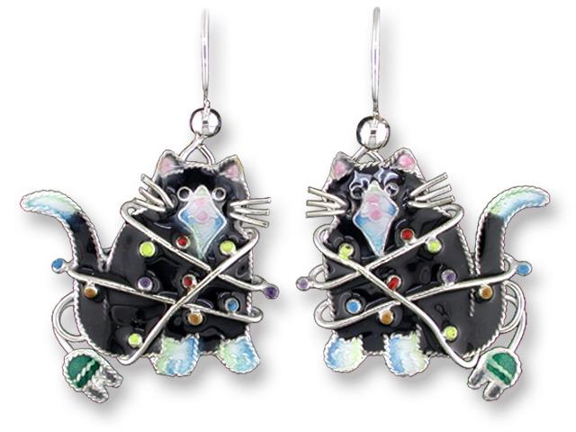 Zarah Co Jewelry 218591 Decorated Cat Earrings