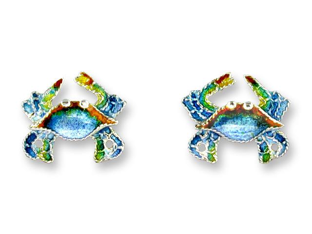 Zarah Co Jewelry 241801 Blue Crab Earrings
