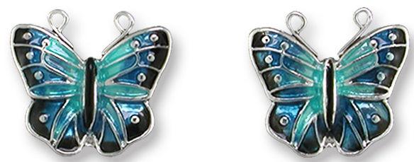 Zarah 2906Z1 Blue Morpho Post Earrings