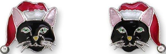 Zarah Co Jewelry 2927Z1 Holiday Cat Earrings