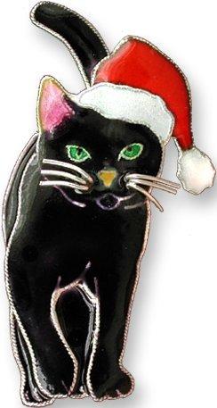 Zarah Co Jewelry 293092P Holiday Cat Pin