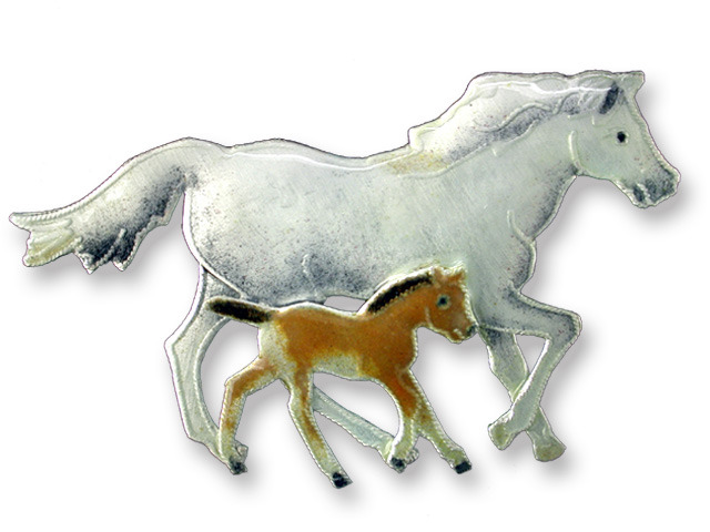 Zarah Co Jewelry 294902 Mare and Foal Pin Brooch