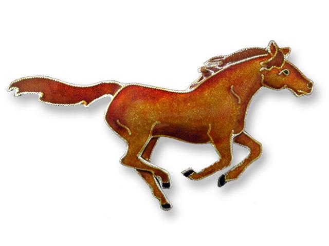 Zarah Co Jewelry 295202 Chestnut Horse Pin Brooch