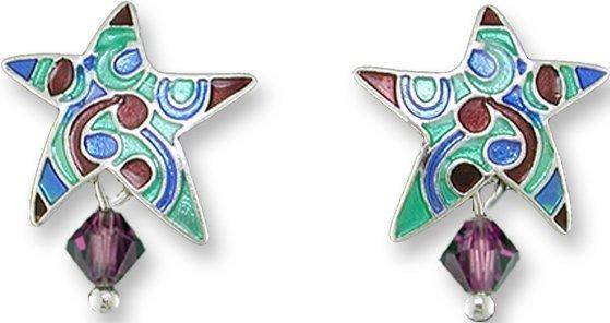 Zarah Co Jewelry 3002Z1 Designer Star Earrings